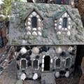 Shells, gems and other baubles and trinkets decorate the interesting constructions at Petersen Rock Garden.- Petersen Rock Garden