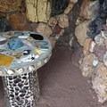 A cute little nook for children at Petersen Rock Garden.- Petersen Rock Garden