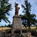 A reconstruction of the Statue of Liberty at Petersen Rock Garden.- Petersen Rock Garden