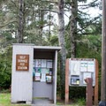 Self-service fee station for the Oregon Dunes National Recreation Area.- Chief Tsiltcoos Trail