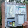 Information and fee station for the Oregon Dunes National Recreation Area. - Chief Tsiltcoos Trail