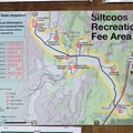 Map for the Siltcoos Recreation Area.- Chief Tsiltcoos Trail