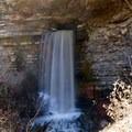 Big Creek Cave Falls.- Big Creek Cave Falls