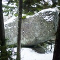 Balancing Rock is an impressive glacial erratic balanced on the edge of a cliff.- Elmore Mountain Fire Tower
