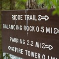 Signage near the top.- Elmore Mountain Fire Tower