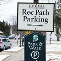 The southernmost parking area is located in Stowe Village.- Stowe Recreation Path
