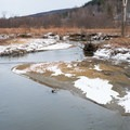 The Little River near the southern end of the recreation path.- Stowe Recreation Path