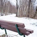 Many of the paths are lined with benches.- Stowe Recreation Path