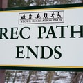 The northern terminus of the rec path- Stowe Recreation Path
