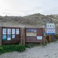 Inforamtion signs at Siltcoos Beach.- Siltcoos Beach