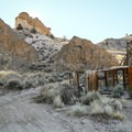 Abandoned mine ruins lie about 1.5 miles down your hike.- Walker Warm Springs