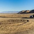 Parking area for Desolation Canyon in Death Valley National Park.- Desolation Canyon Hike