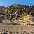 Typical soft rock hills of Death Valley.- Desolation Canyon Hike