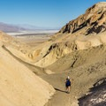 Looking back from the top of Desolation Canyon in Death Valley National Park.- Desolation Canyon Hike
