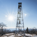 Overlook Mountain fire tower.- Overlook Mountain