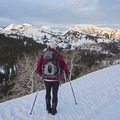 Breathtaking views along this route.- Guardsman Overlook Snowshoe