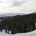 Looking down into Midway and Heber City. Park City is located off to the left.- Guardsman Overlook Snowshoe