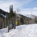 Trailhead for the Lower Red Pine Lake Snowshoe.- Lower Red Pine Lake Snowshoe