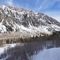 Looking east up Little Cottonwood Canyon.- Lower Red Pine Lake Snowshoe