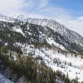 Looking down the valley as well toward Salt Lake City.- Lower Red Pine Lake Snowshoe