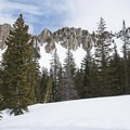 Views from Lower Red Pine Lake.- Lower Red Pine Lake Snowshoe