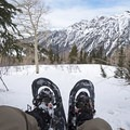 Taking a breather and enjoying the Wasatch views from near Lower Red Pine Lake.- Lower Red Pine Lake Snowshoe