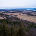 Looking southwest over the Lake Champlain valley.- Mount Philo