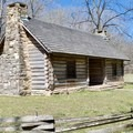 Replica of Reverend Samuel McAdow's log cabin.- Montgomery Bell Trail