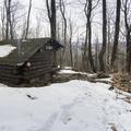 Baldwin Memorial Lean-To (2,100 ft).- Mount Tremper