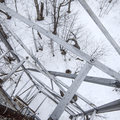 View looking down the fire tower.- Mount Tremper