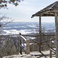 Small gazebos are built throughout the preserve.- Skytop Tower Trail