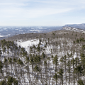 Looking south from the carriage road.- Skytop Tower Trail