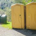 Portable bathrooms are located near the entrance to the Canyon Creek Trail.- Canyon Creek Trail To The Black Hole of Calcutta Falls