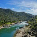 View looking over the North Fork of the American River.- Canyon Creek Trail To The Black Hole of Calcutta Falls