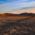 Sunrise over the dune complex.- Amargosa Big Dune