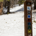 Signage for the Wire Patch Trail.- French Gulch