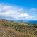 Lake Superior with the foliage just a little past peak fall colors.- Oberg Mountain