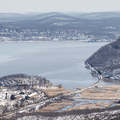 Overlooking Iona Island (southeast).- Bear Mountain + Perkins Tower