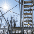 Climb the stairs to the top.- Stissing Fire Tower