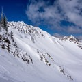 A view of Cardiac Bowl and Cardiac Ridge from the skin track.- Mount Superior Backcountry Skiing