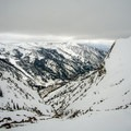 The summit view looking west over Little Cottonwood Canyon.- Mount Superior Backcountry Skiing