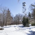 Mountain summit and picnic area.- Red Hill Fire Tower