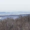 Looking southeast to Skytop Tower and the Shawangunks.- Red Hill Fire Tower