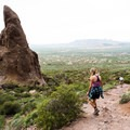 Hiking the Siphon Draw Trail.- Flatiron Mountain via Siphon Draw