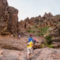 The Siphon Draw Trail on slick rock.- Flatiron Mountain via Siphon Draw