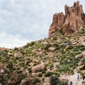 Hikers pause for a rest on the way to Flatiron Mountain.- Flatiron Mountain via Siphon Draw