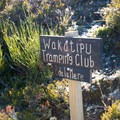 The track is maintained by different groups of volunteers. They each have a sign along the track. - Ben Lomond Saddle