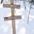 The junction with the spur to the Skyline Trail.- Stowe Pinnacle