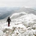 View of West Peak from Avery Peak.- The Bigelows + Horns Loop