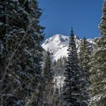 Lake Peak as seen from the skin track.- Red Baldy Backcountry Skiing